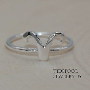 Zodiac sign Aries Ring in Sterling Silver